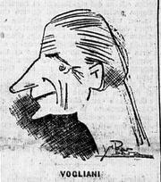 1932-33. Una caricatura di Antonio Vojak