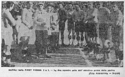 1931-32. Napoli-First Vienna 2-1. Le due squadre